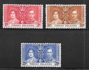 British Virgin Islands 73-75: King George VI and Queen Elizabeth, MH, MHR, F-VF