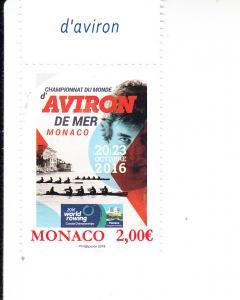 2016 Monaco World Rowing Coastal Championship Scott 2856 MNH