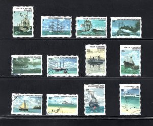 Cocos Islands, Sc 20-31,  VF, Used, Complete Set, CV $6.15 ..... 1420004