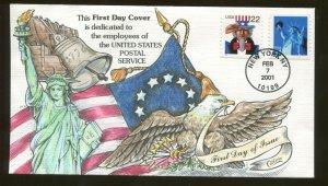 2001 New York - United States Postal Service Dedication  - Collins FDC