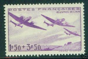 FRANCE Scott B130 MNH** Airplane stamps