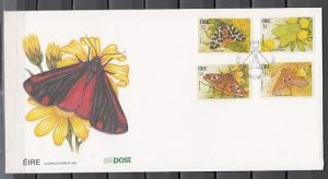 Ireland, Scott cat. 931-934. Butterflies issue on a First day cover. *