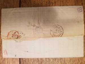 O)1858 ARGENTINA, PREPHILATELY, FRENCH MARITIME MAIL. G. B. LONDON, J. G . - PA