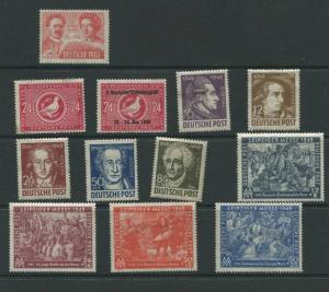 Germany Soviet Zone 1949 Mi 229-8  240-1  MH Complete Year (-1 Stamp & Block)