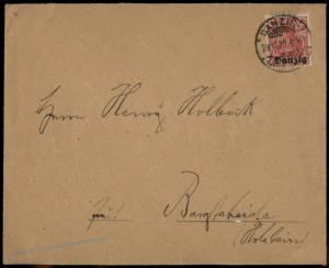 Danzig 1920 Langfuhr Germany Cover  Germania Overprint to Bargteheide 83664