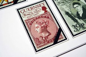 COLOR PRINTED GUERNSEY 1958-2010 STAMP ALBUM PAGES (145 illustrated pages)