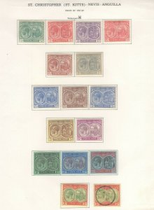 St. Kitts-Nevis Stamps 1921-29 Approx. CV. $240 (JH 9/22) GP