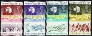 British Antarctic Territory #39-42  MNH  CV $53.50 (K3083)