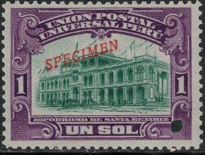 Peru 1907 MNH SC 175 Specimen Ovpt SCV $500.00