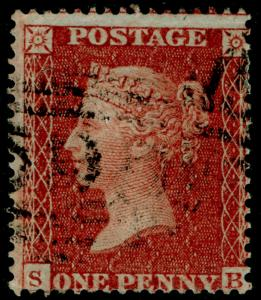 SG21, 1d red-brown PLATE 11, SC16 DIE II, USED. Cat £170. SB