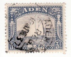 Aden #7  Used, VF/XF, CV $6   .....   0020007/80