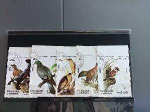 Sharjah Wild  Birds cancelled  stamps R26116