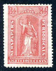 US Newspaper stamp. 84c red. MNG. SENF FORGERY. FACSIMILE.