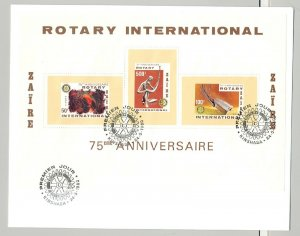 Zaire 1980 Rotary 1v S/S Perf & Imperf on 2 FDC