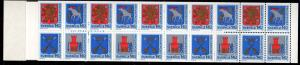Sweden Sc 1359a 1981 Coats of Arms stamp bklt pane mint NH