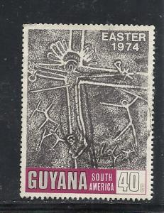 Guyana #195 used cv $.25 Easter