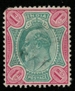 India, 1902-1903 King Edward VII, Watermark Star (T-6049)