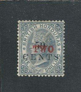 BRITISH HONDURAS 1888 TWO on 50c on 1s GREY MM SG 35 CAT £60