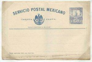 MEXICO 5c lettercard 1897 unused...........................................58738