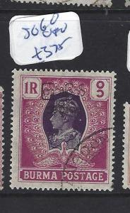 BURMA (P1312B) KGVI  1R BIRD  SG 79   VFU