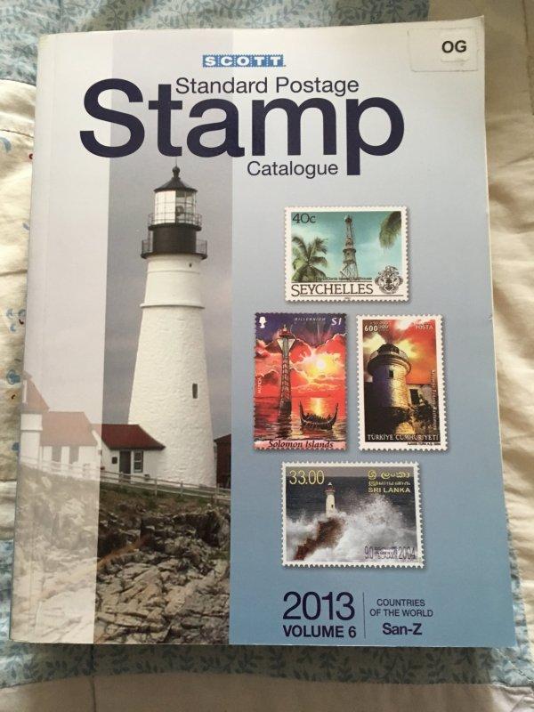 Scott 2013 Standard Postage Stamp Catalogue Vol 6 San - Z Countries ExLibrary