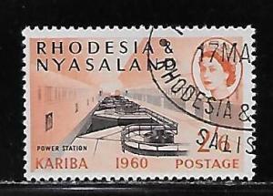 Rhodesia & Nyasaland 176 2sh6d Power Station single Used