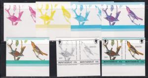 Montserrat # 582, Progressive Color Proofs, Imperf Pairs, NH