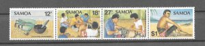 Samoa MNH Strip 561 Tattooing 1981