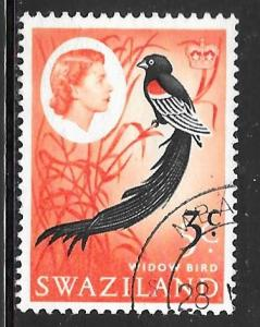 Swaziland 138: 3c on 5c Long-tailed Widowbird (Euplectes progne), used, F-VF