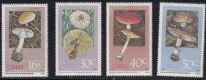 Ciskei SC127-130 Poisonus Mushrooms MNH 1988