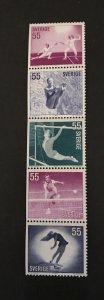 Sweden 1972 # 914-18 Booklet Pane, MNH, CV $3.75