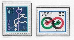 Japan 1462-63 Energy Conservation set MIHON MNH