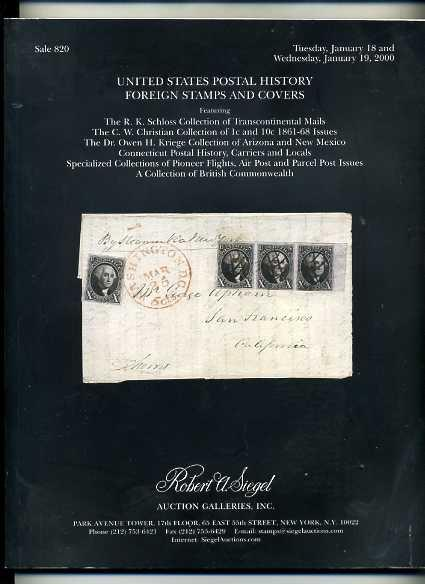 SiegelSale820 USPostal History&Foeign Stamps and Covers