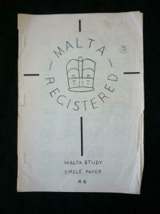 MALTA REGISTERED (GPO HANDSTAMPS ON REGISTERED MAIL) by MALTA STUDY CIRCLE