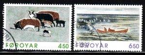 Faroe Islands # 307-08 ~ Short Set 2 of 3 ~ CTO, HMR