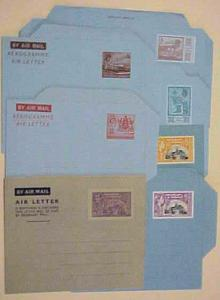 TRINIDAD & TOBAGO 6 AIR LETTERS MINT FROM 1940's