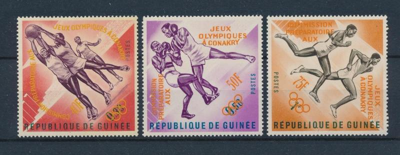 [61071] Guinea 1963 Orange overprint Olympic games Boxing Basketball MNH