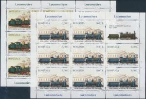 Romania stamp Locomotives mini sheet set MNH 2011 Mi 6551-6554 WS190000