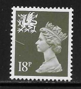 Great Britain Wales WMMH33 18p Machin MNH