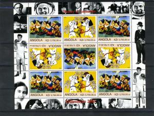Angola 2000 Disney 101 Dalmatians & Seven Dwarfs Sheet Perforated mnh.vf