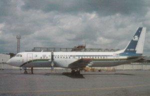 7481 Aviation Postcard  UZBEKISTAN AIRWAYS IL-114 UK-91001   Airlines