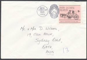 GB 1982 Bath Postal Museum 9p local post stamp on cover....................53803