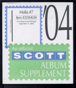 2004 Scott #7 Malta Stamp Album Supplement Item #203ML04