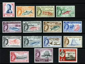 TURKS & CAICOS ISLANDS QE II 1957 Full Pictorial Set SG 237 to SG 250 MINT