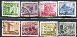 Hungary  Scott  1004-1011  Used