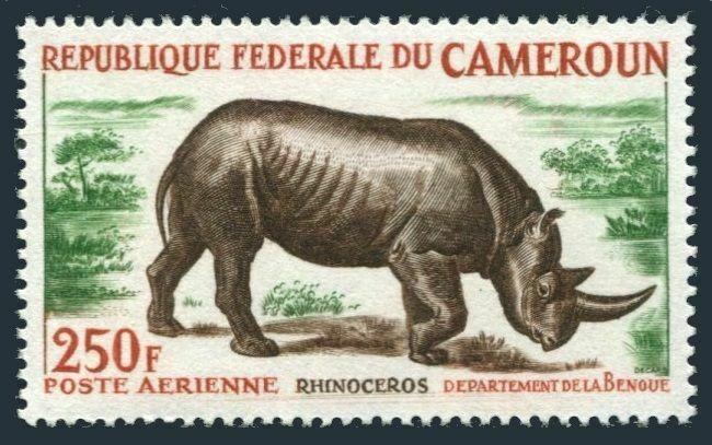 Cameroun C51,MNH.Michel 421. Rhinoceros 1964.