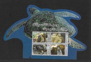 TURTLES - TONGA  (2 SHEETS)  MNH