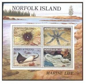 NORFOLK ISLAND SHEET MARINE LIFE