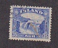 J25734 JLstamps 1931-2 iceland used #172 waterfalls
