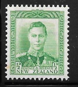 New Zealand 226: 1/2d George VI, MH, F-VF